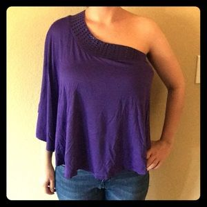 Off the Shoulder Purple Top